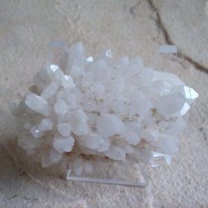 Natural White Clear Quartz Crystal Cluster Points
